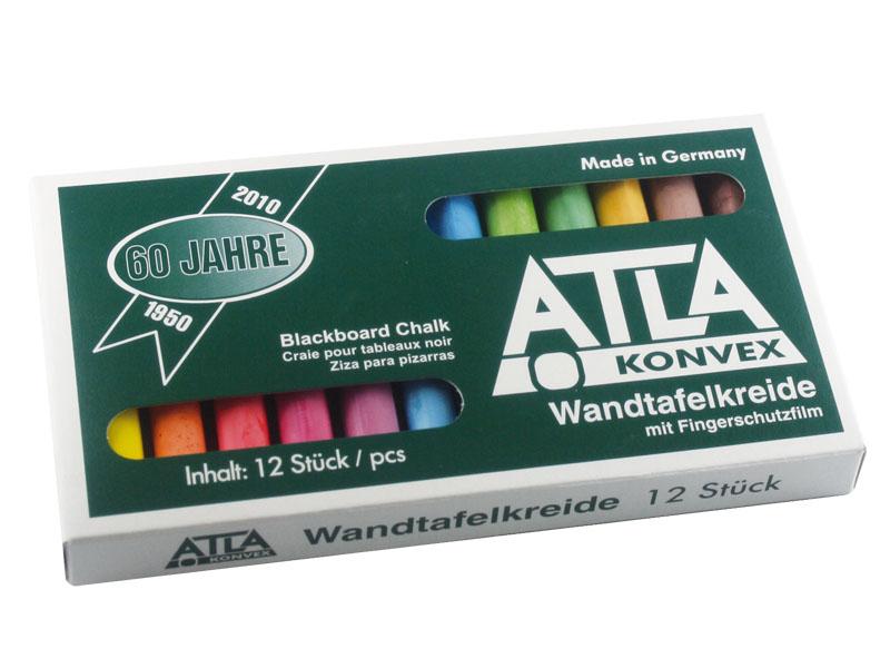 Atla-Kreide, farbig sortiert