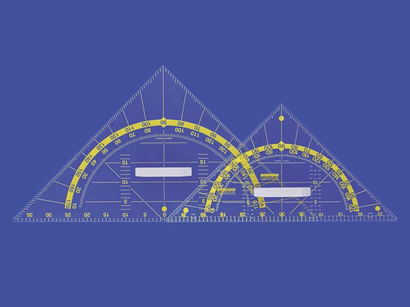 Wandtafel-Geometriedreieck